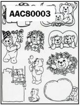 Clear Stamp-Stick N Stamp Bears