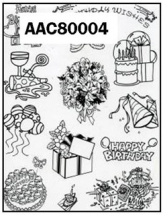 Clear Stamp-Stick N Stamp Birthday