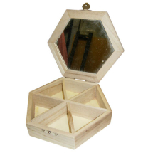 Hexagonal jewellery box 160x40mm