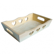 Tray with heart cut-outs 220x 130mm