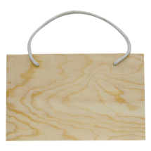 Wood plaque hanger rectangle 200x125x8mm