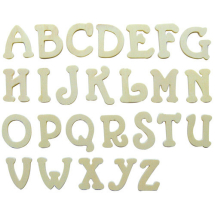 Wood alphabet 25x3mm 200 letters