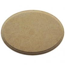 MDF oval wood plaque 85x55x9mm