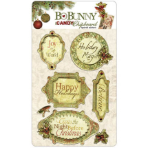 BoBunny NOEL ICANDY CHIPBOARD-LAYERED