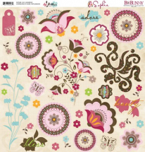Sophie 12x12 Adhesive Chipboard