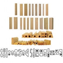 Clay Stamps - Set of 19 Stamps Wooden Impression stamps