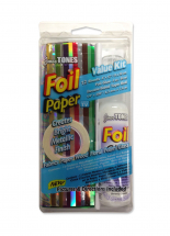 12 Foils 12x6inch Sheets Kit + 60ml Glue/Tape Roll