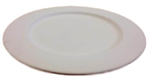 Bisque Large Plate with Rim 310mm