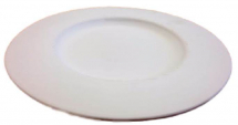 Bisque Large Plate with Rim 330mm
