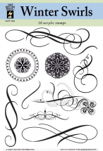 Hot Off The Press-Winter Swirls Clear Stamp