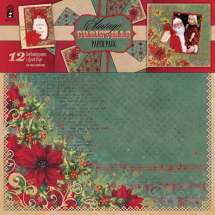 Vintage Christmas paper IWHP7003