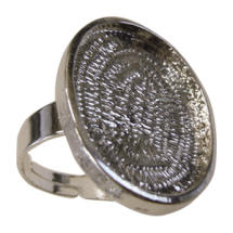 Finger ring oval plate 18x25mm