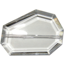 Cut crystal uneven shape 45x32mm