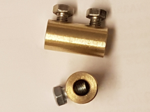 Brass Connector with 6mm dia bore and 2 screws