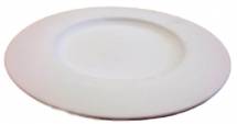Bisque Flat Rimmed Serving Plate 310mm