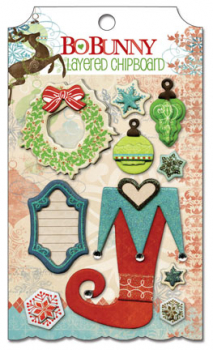 BoBunny Blitzen Layered Chipboard