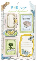 BoBunny Country Garden Layered Chipboard