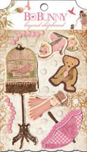 BoBunny 12inch Little Miss Chipboard