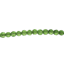 String facetted beads 8mm 42pcs Light Green