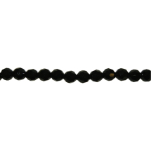 String facetted beads 8mm 42pcs Black