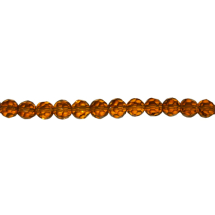 String facetted beads 8mm 42pcs Topaz Brown