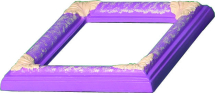 Small Rectangle Picture Frame Mould 210 x 185mm