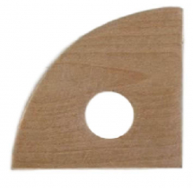 Triangle Curve Wooden Throwing Rib