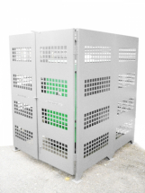 2-Sided Kiln Cage, Sheet Metal Double Door 1.5W x 1.2D x 1.8H