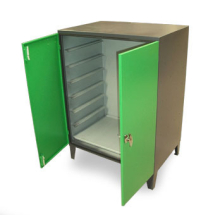 Damp Cabinet 1270H x 1220W x 635D mm (4 shelves)