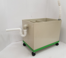Sink Trap 450Hx650Lx400W mm - Castors 70mm High