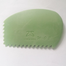 Firm Silicone Rib saw edge serrations - Green