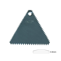 Flexible Plastic Scraper - Triangle 3 Serrated Edges