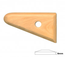 Long Triangle Wooden Throwing Rib
