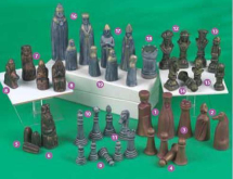 Norse Chess Piece 4 Pawns 65mm Mould