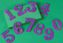 Numbers (O-9) Mould make into fridge magnets!