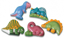 Dinosaurs (5 In 1 Mould) make into fridge magnets!