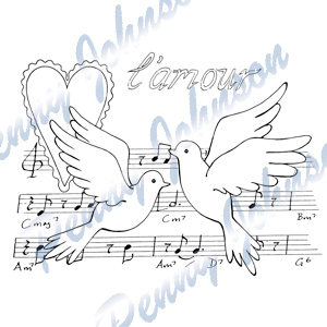 Clear Stamps-Stampavie-Chanson D'amour Penny Johnson
