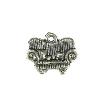 Armchair 15x12mm antique silver