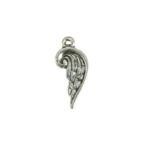 Curved wing 18x8mm antique silver