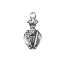 Perfume bottle 18x8mm antique silver