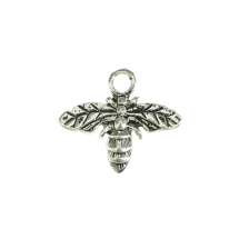 Bee 15x12mm antique silver 24pcs