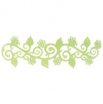 Adhesive Flocked Border Lime