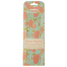 Deco Mache - Blank Canvas - Orange Bloom
