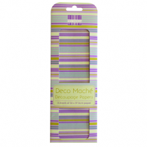 Deco Mache - New Bloom - Purple Stripes