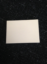 Small Rectangular Bisque Tile 45mm x 32mm x 3mm