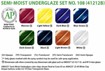 Amaco Underglaze Semi-Moist Pan Set 108