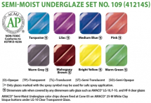 Amaco Underglaze Semi-Moist Pan Set No 109