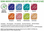 Amaco Underglaze Semi-Moist Pan Set No 110