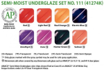 Amaco Underglaze Semi-Moist Pan Set No 111
