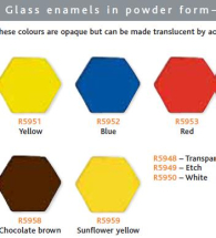 Glass Enamel Leadless - Etch H g002- Transpartent Matt - 500g